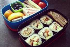 Рецепт бенто №10. Суши роллы с угрем и японский омлет