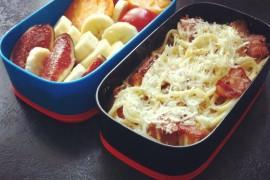 Рецепт бенто №11. Паста карбонара