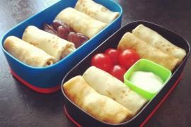 Рецепт бенто №21. Блины с курицей и с яблоками