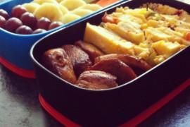 Рецепт бенто №4. Испанская тортилья и курица в медовом маринаде