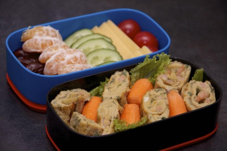 Рецепт бенто №62. Японский омлет с креветками