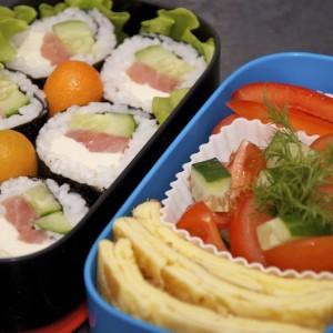 рецепт суши роллы с сёмгой и огурцом