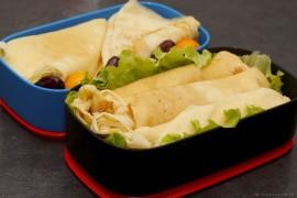 Рецепт бенто на Масленицу. Блины с ветчиной и сыром