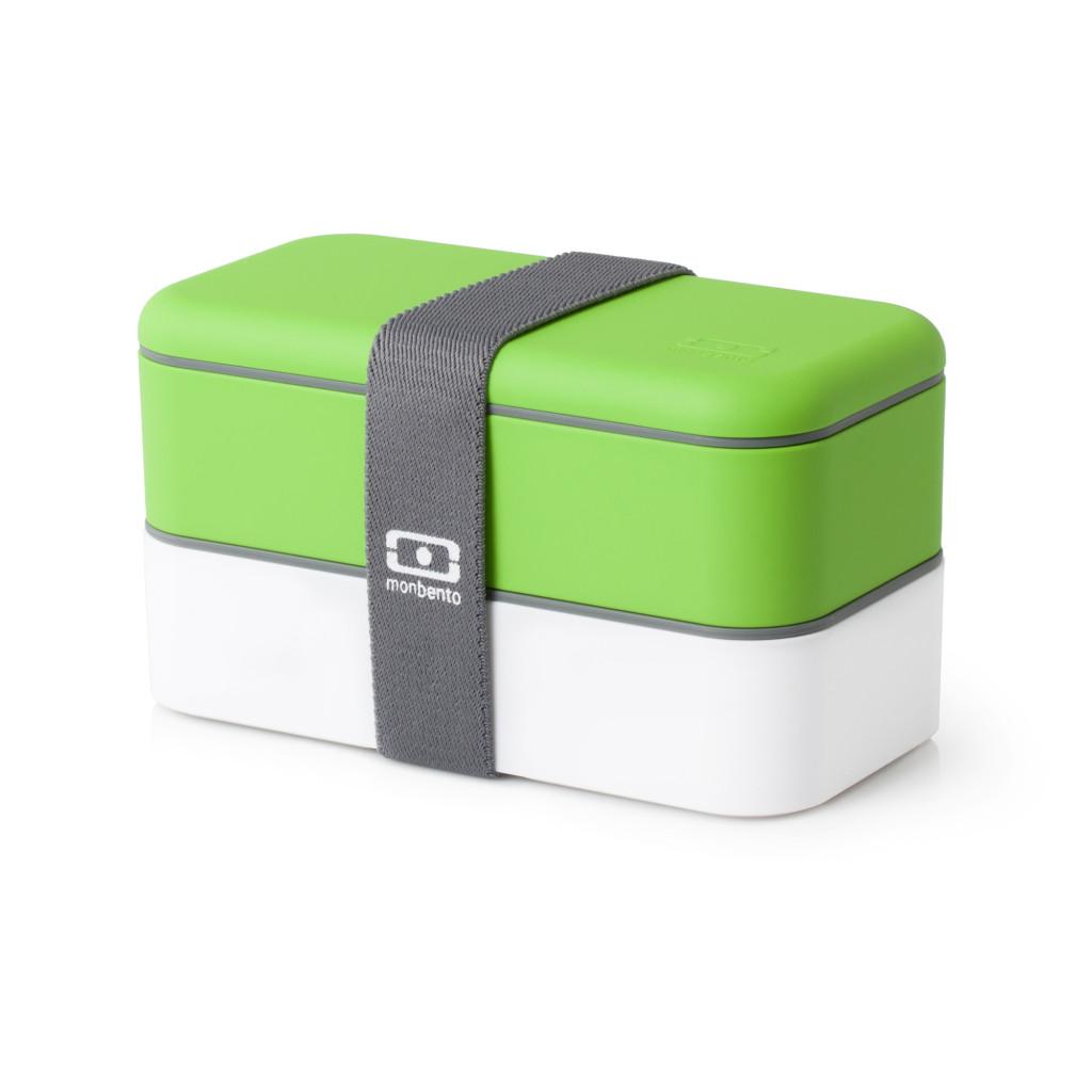 Ланч бокс monbento бело-зелёный