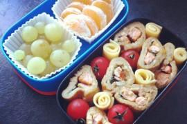 Рецепт бенто №52. Омлет с красной рыбой