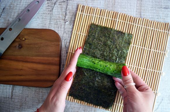 рецепт суши роллов огурец