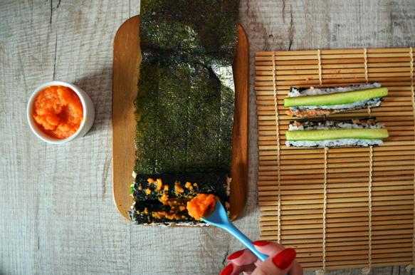 начинка для суши роллов огурец морковь имбирь томат