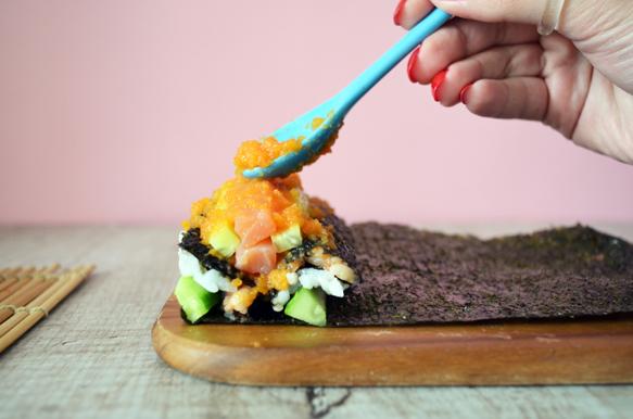 как готовить суши роллы мозаика с форелью