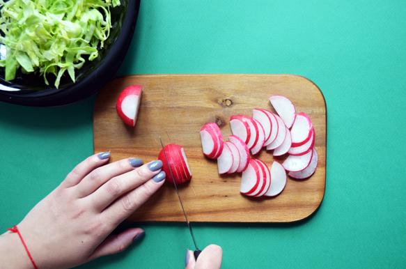 Овощной салат для бенто. Рецепт с пошаговым фото