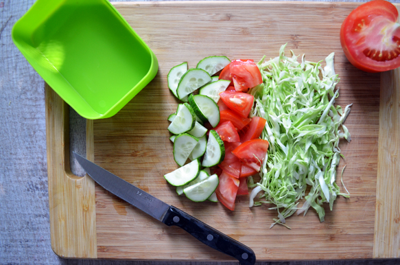 Овощной салат для бенто