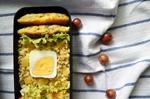 Бенто №110. Булгур с болгарским перцем, рыбные котлеты и салат