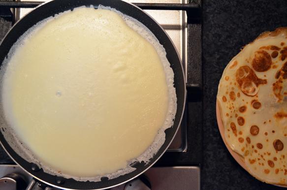 Приготовление блинов, рецепт с фото