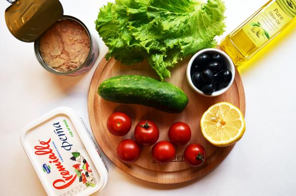 Ингредиенты для бенто-салата