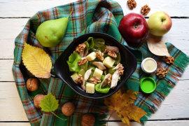 Рецепт бенто №119. Салат с курицей и виноградом