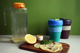 Имбирный чай с лимоном, мятой и мёдом