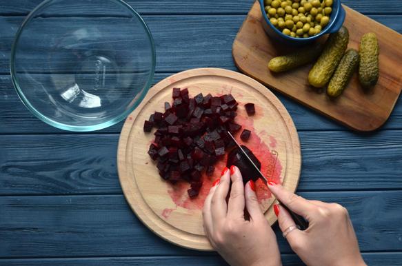 рецепт винегрета с нутом