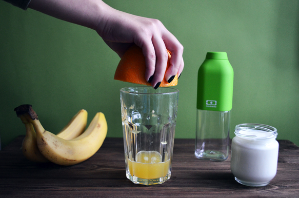 смузи с хурмой и бананом рецепт с фото