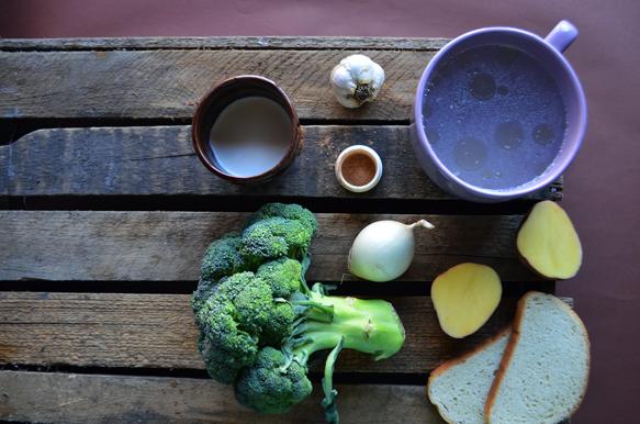 ингредиенты для крем-супа из брокколи