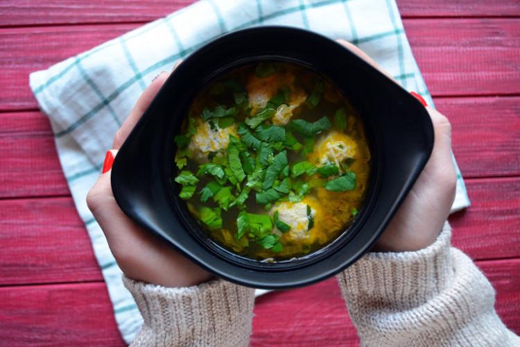 Рецепт бенто №130. Картофельный суп с фрикадельками
