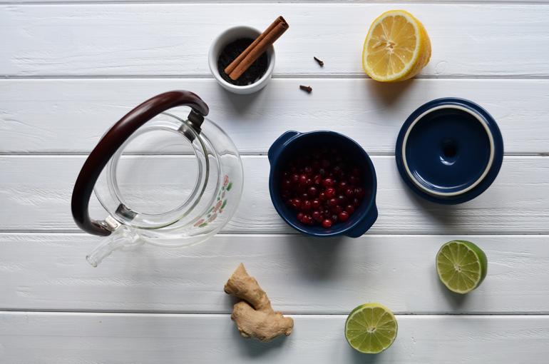рецепт клюквенного чая