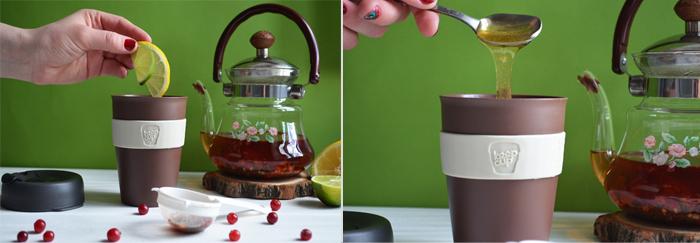 чай от простуды ск люквой рецепт с фото