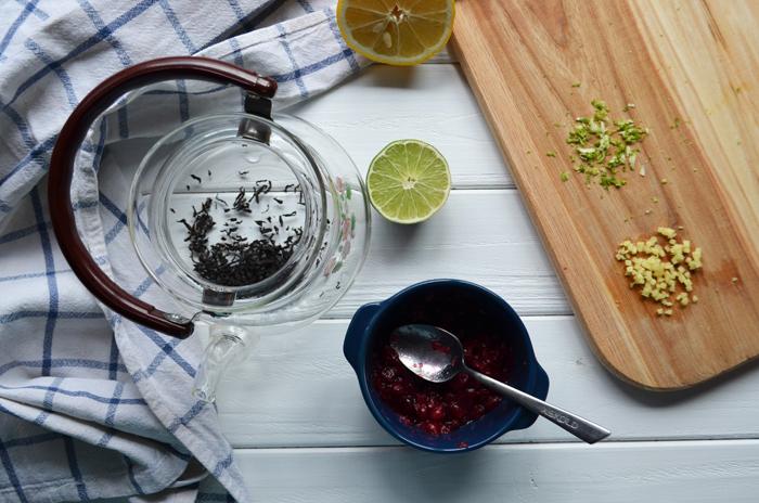 чай от простуды с клюквой рецепт
