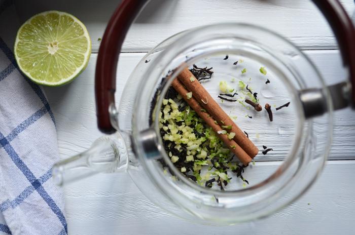 клюквенный чай рецепт