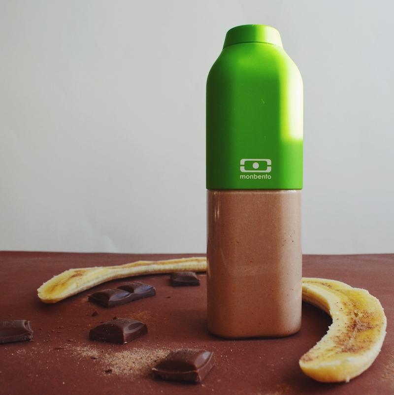 смузи рецепт банан шоколад молоко