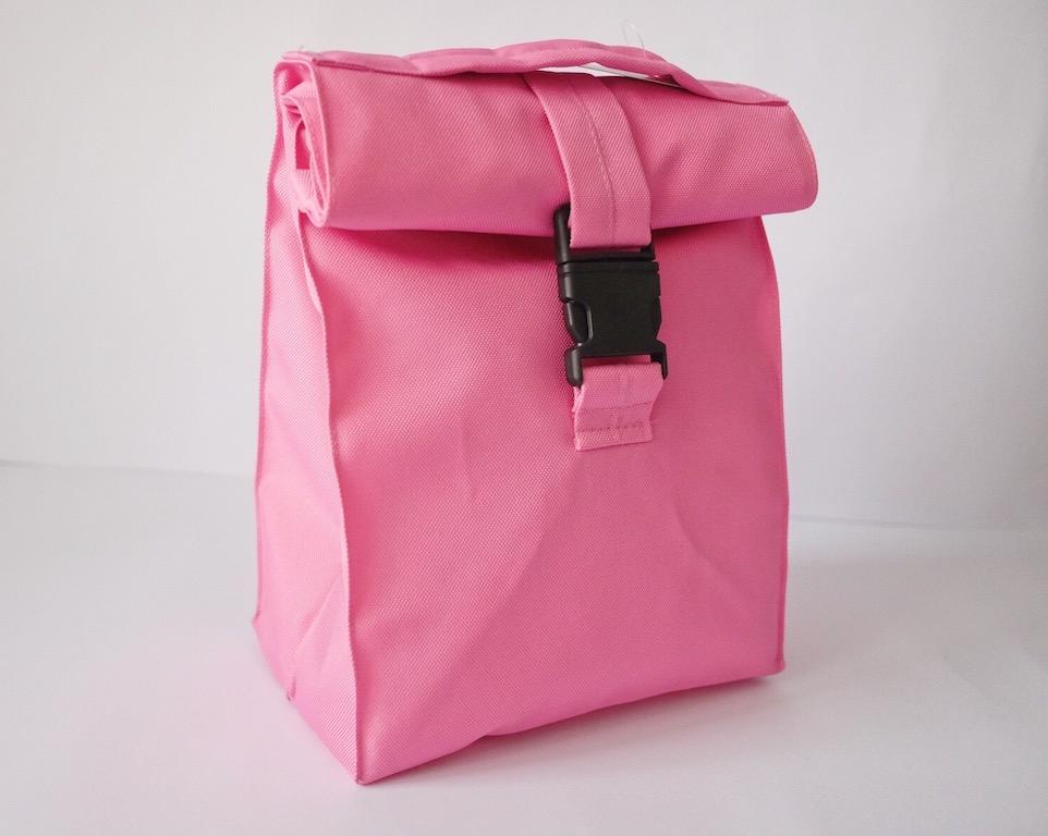 Термосумка lunch bag розового цвета