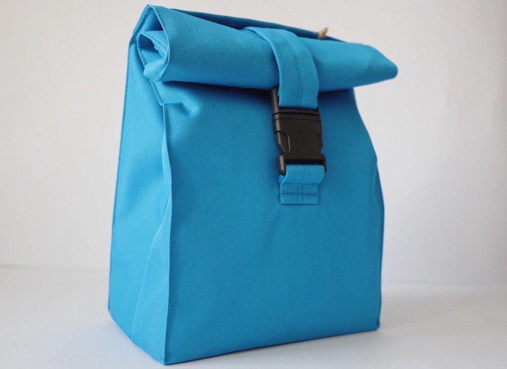Термосумка lunch bag голубого цвета