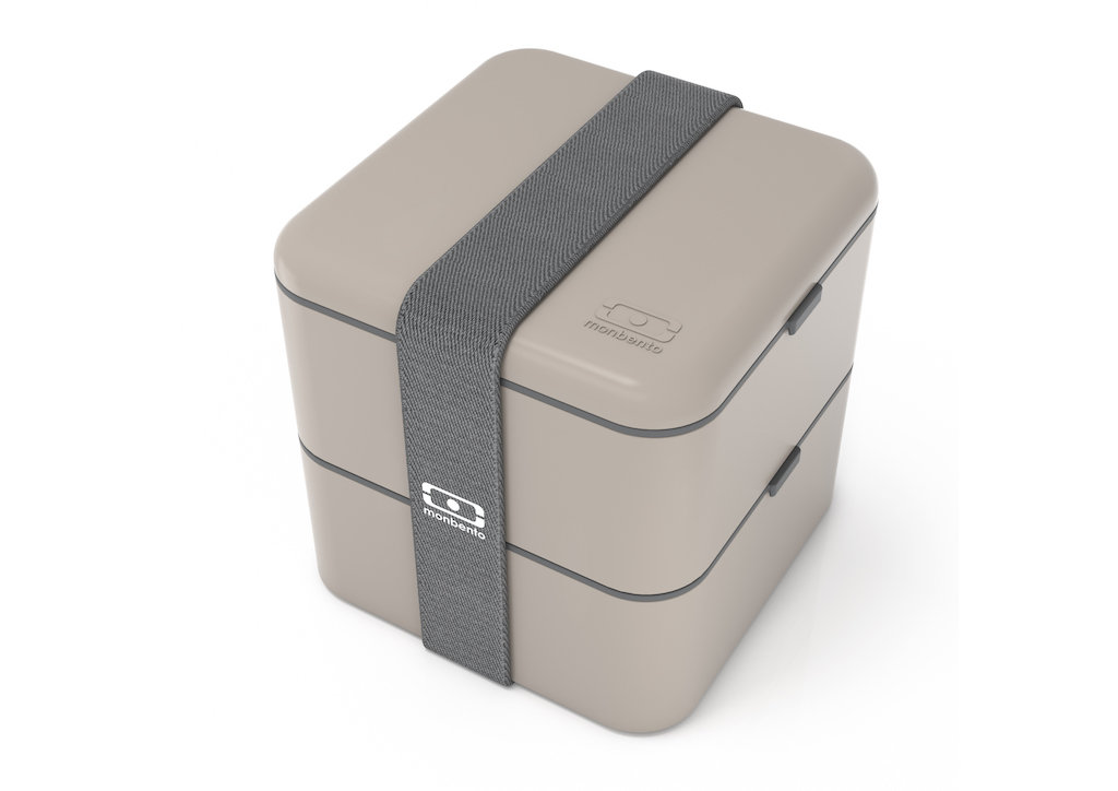 Ланч бокс monbento square серого цвета